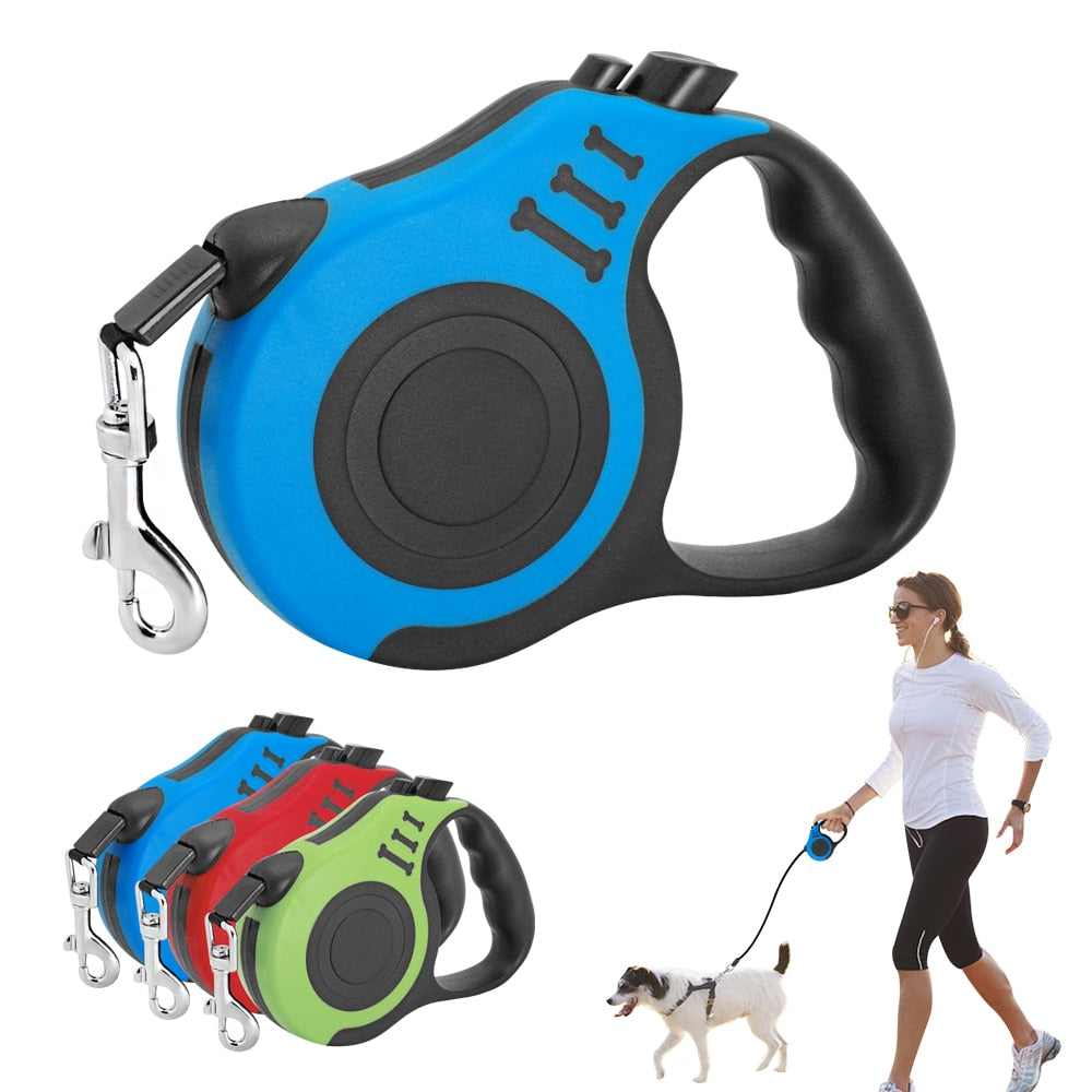 10ft/16.5ft Retractable Dog Leash - Fluffy Palace