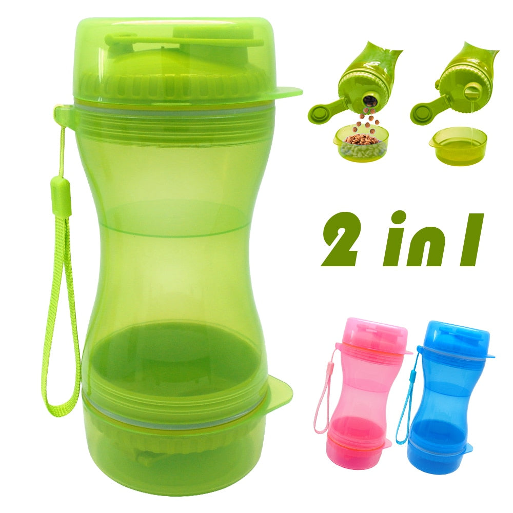 2 in 1 Portable Water Bottle - Fluffy Palace