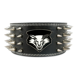 Spiked Leather Dog Collar - Fluffy Palace