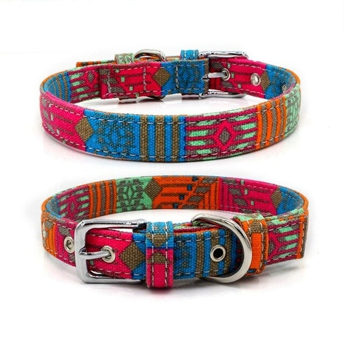 Adjustable Bohemian Dog Collar - Fluffy Palace