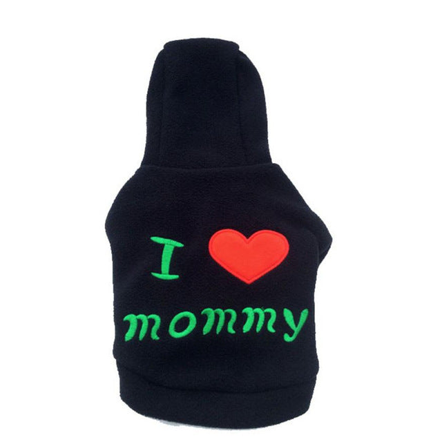 Cute I LOVE mommy Sweater Hoodie - Fluffy Palace