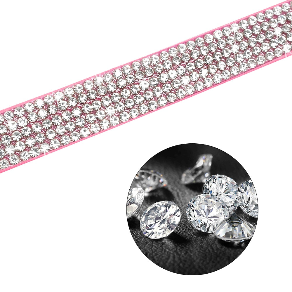 Rhinestone Dog Leash - Fluffy Palace