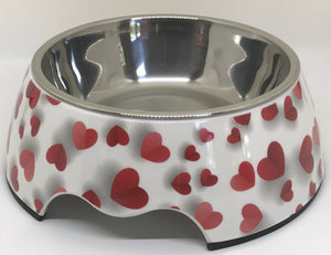 Love Medium Size Heart Dog Bowl - Fluffy Palace