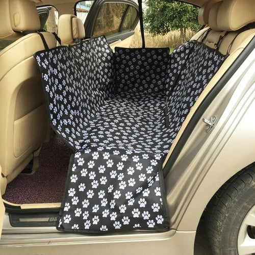 Pawstrip Oxford Pet Hammock Dog Seat Cover For Car - Fluffy Palace