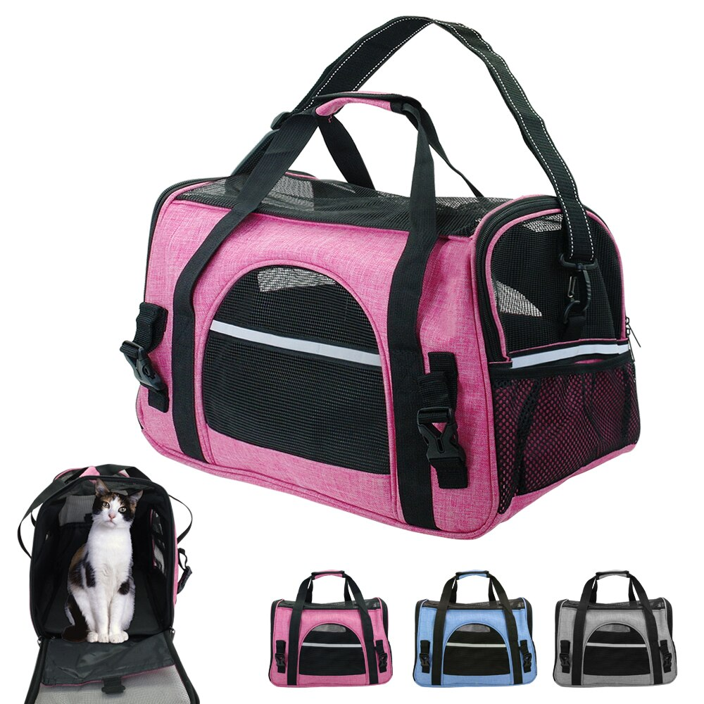 Portable Dog Cat Carrier Bag Pet Puppy Travel Bags - Fluffy Palace