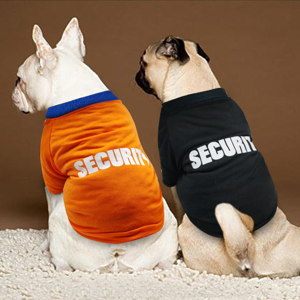 """Security"" - Printed Dog Clothes - Fluffy Palace"