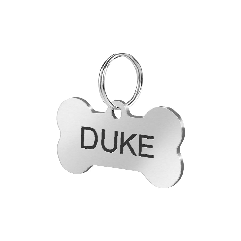 Stainless Steel Personalised ID tag - Fluffy Palace