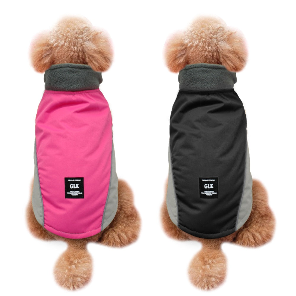 Warm Waterproof Pink/Black Clothes - Fluffy Palace