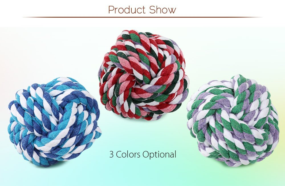 Weaved Cotton Rope Biting Toy - Fluffy Palace