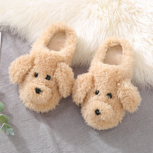 Plush Furry Dog Slipper - Fluffy Palace