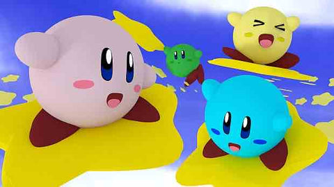 Différentes couleurs Kirby