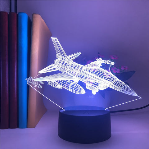 Lampe 3D Avion Fighter