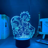 Lampe 3D One Piece Trésor lampe design