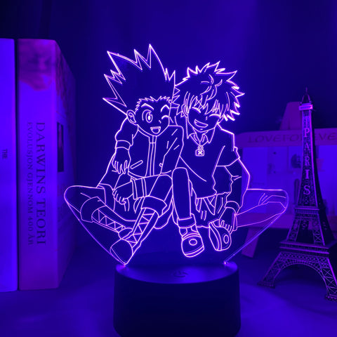 Lampe manga 3D Hunter X Hunter Killua & Gon