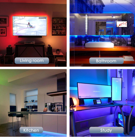LED <br> Bande decorative (TV, Mur, Meuble...)