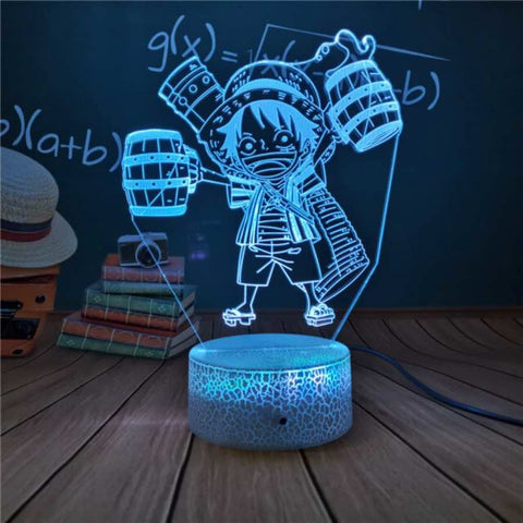 Lampe 3D One Piece Luffy joyeux