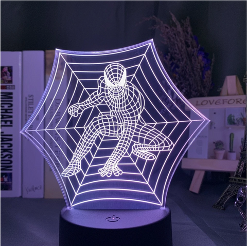 Lampe 3D Spiderman toile