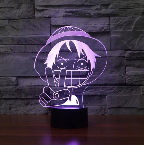 Lampe 3D manga One piece Luffy victoire