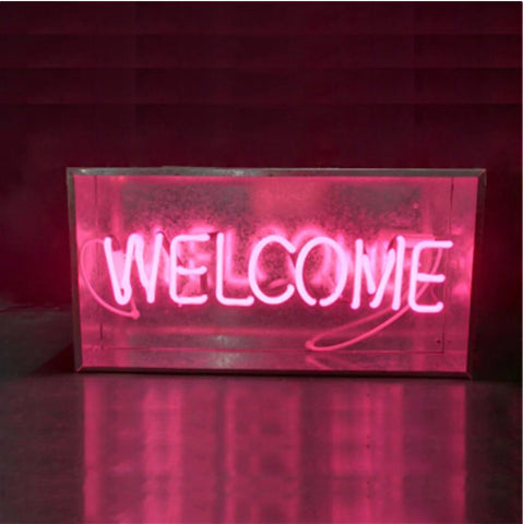 Lampe néon welcome