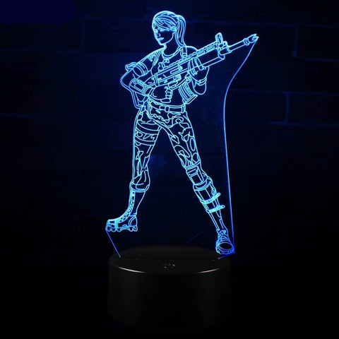 Lampe 3D Fortnite Troupe d'Assault