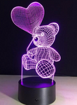 Lampe 3D <br> l'Ourson et son ballon