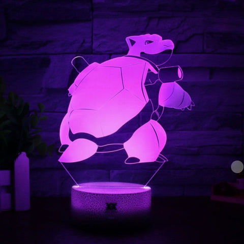 Lampe 3D pokemon Tortank