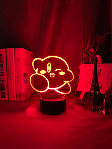 lampe 3D Kirby rouge