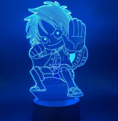 Lampe 3D One piece Luffy Gomu Gomu