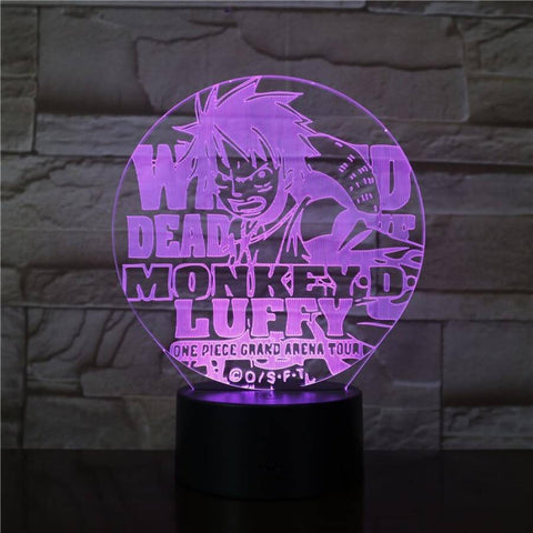 Lampe 3D One Piece Monkey D Luffy