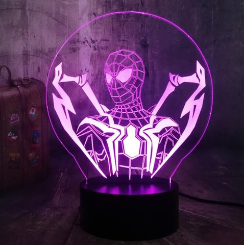 Lampe 3D Spiderman Homecoming buste