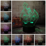 Lampe illusion 3D Pokemon Dracofeu
