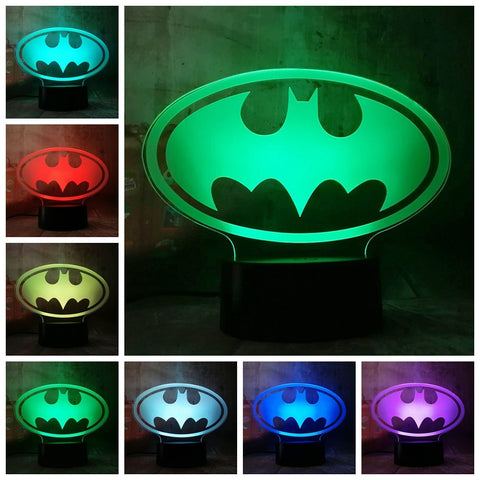 Veilleuse 3D DC Comics Symbole Batman