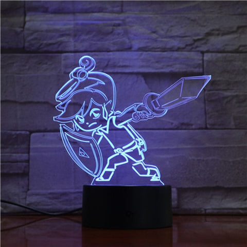 Lampe 3D Link attaque cyclone