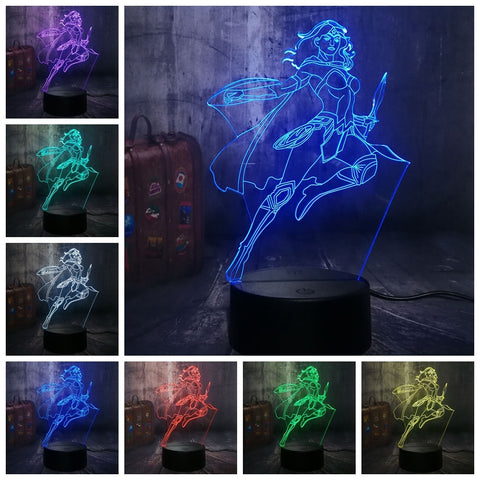 Lampe 3D DC Comics Wonder Woman