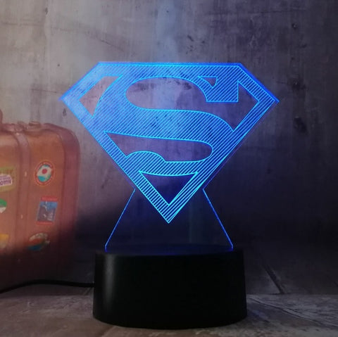 Veilleuse 3D DC Comics Symbole Superman