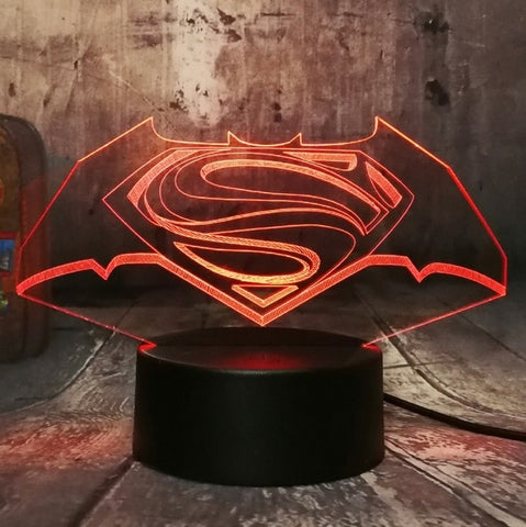 Veilleuse 3D DC Comics Batman vs Superman