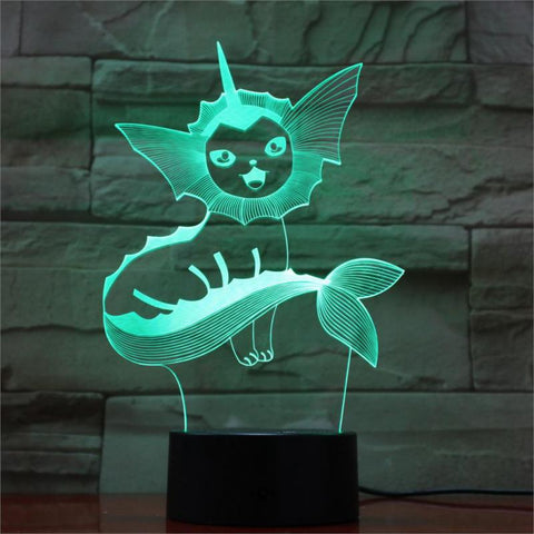 Lampe 3D Pokemon Aquali
