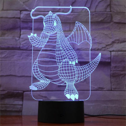 Lampe 3D Dracolosse
