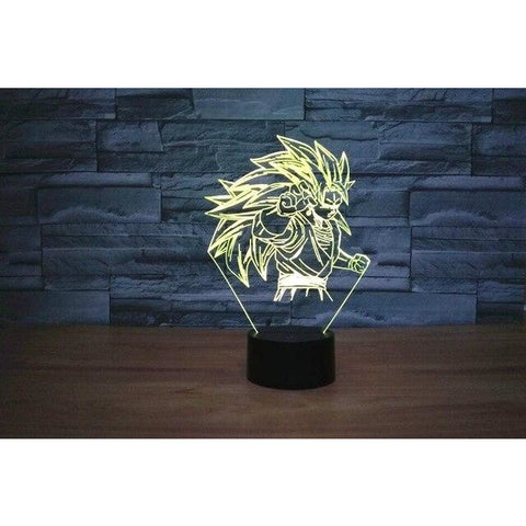 Lampe 3D Dragon Ball Z super sayen 3