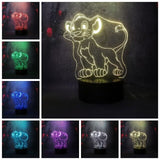 Collection Lampes 3D Disney Simba