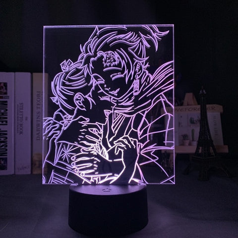Lampe 3D Demon Slayer Tanjiro et Nezuko