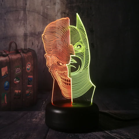 Lampe 3D DC Comics Batman & Joker