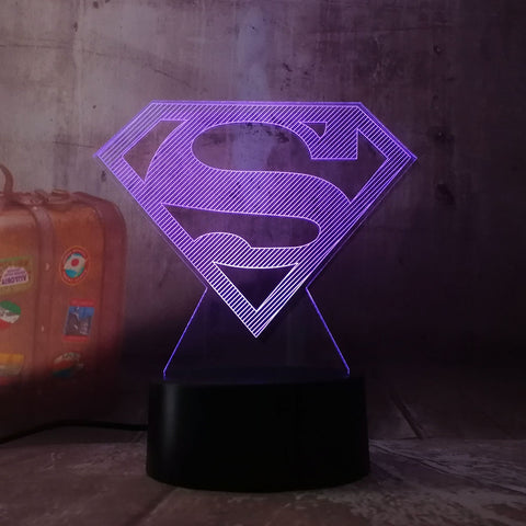 Lampe 3D DC Comics Symbole Superman