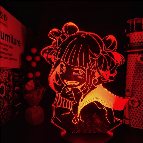 Lampe 3D My Hero Academia Himiko Toga rouge