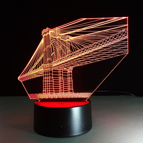 Lampe 3D golden bridge
