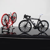 red and black road bikes