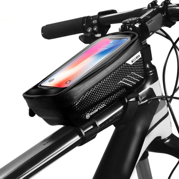 top tube bag with phone holder