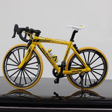 yellow road bike