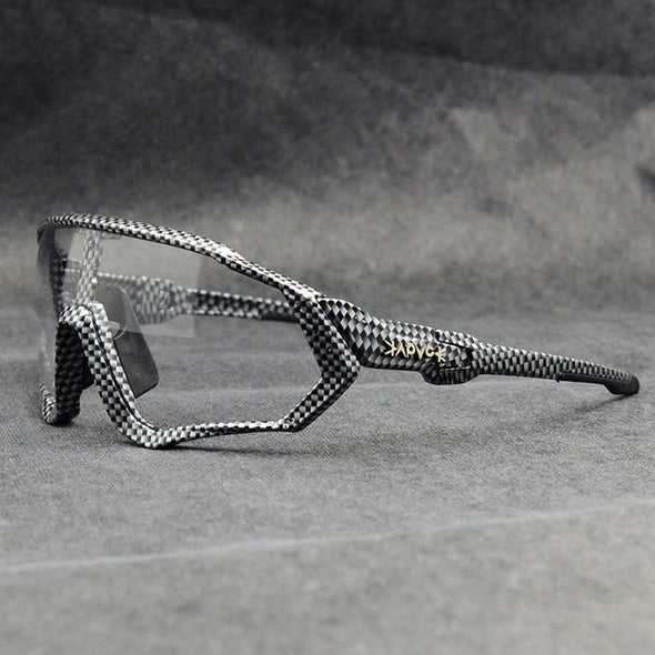 black and white cycling sunglasses