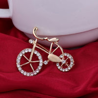 Rhinestone Bicycle Brooch [LOOK BEAUTIFUL]